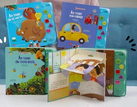 sách âm thanh - sách tương tác cho bé